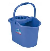 Cubo para fregona con escurridor azul