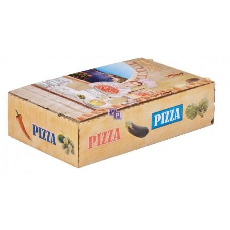 Caja de pizza y calzone