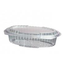 Envases de plástico PP con bisagra Oval