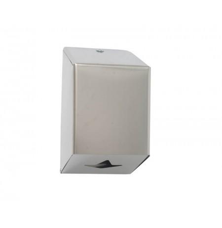 Dispensador de papel mecha acero inox.