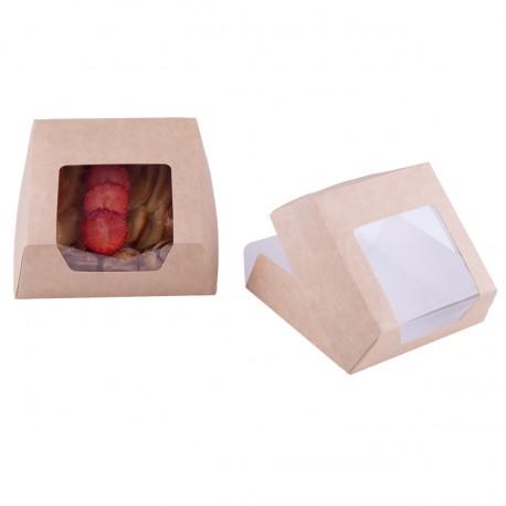 Caja porción tarta 14x14 kraft