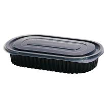 Envases deluxe negro ovalado PP