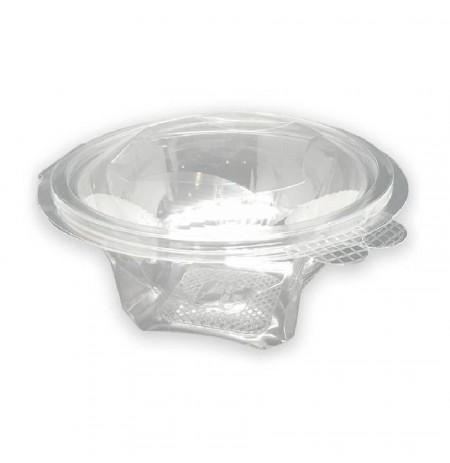 Ensaladera con bisagra transparente PET