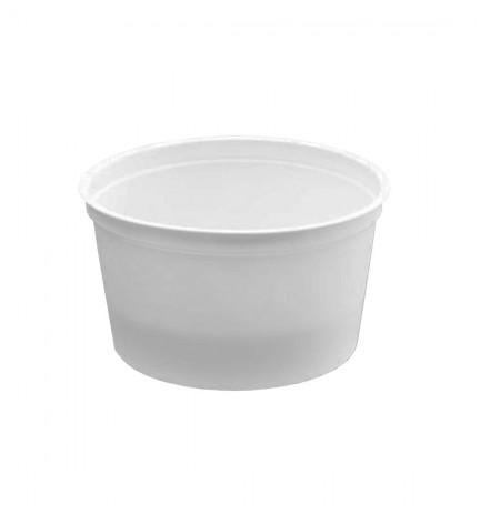 Tarrina blanca + tapa CUI PP reutilizable