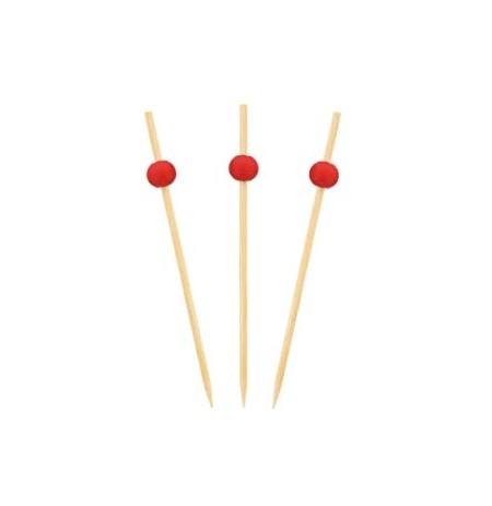 Pincho bambú para fruta