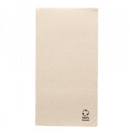 SERVILLETAS ECOLABEL 1/8 'DOUBLE POINT' 40x40 CM NATURAL TISSUE RECICLADO