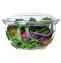 Bowl para ensalada compostable + tapa PLA