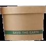 """Envase redondo cartón kraft """"Save the earth"""""""