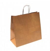 Bolsas de papel con asa rizada kraft