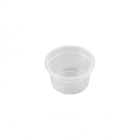 Tarrina circular plastico PP