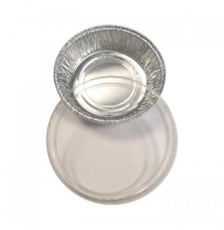 Tapa PVC p/envase aluminio postres