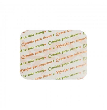 Tapas de cartón p/precocinados