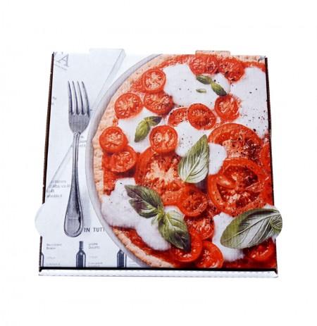 Caja de pizza BLANCA/interior Kraft