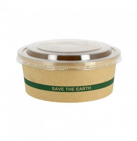 "Ensaladera Cartón ""Save the Earth"" 1300cc + Tapa RPET"