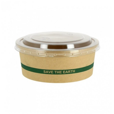 "Ensaladera Cartón ""Save the Earth"" 1300cc + Tapa RPET"