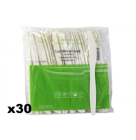 Tenedor biodegradable de maíz