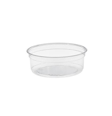 Tarrina circular transparente PET